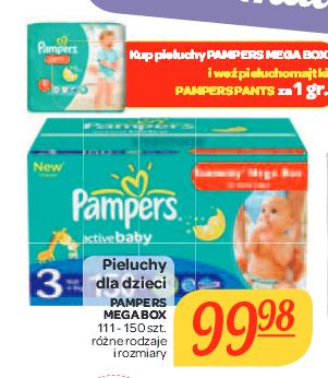 Pieluchomajtki Pampers Pants za 1gr przy zakupie Pampers Mega Box @ Carrefour