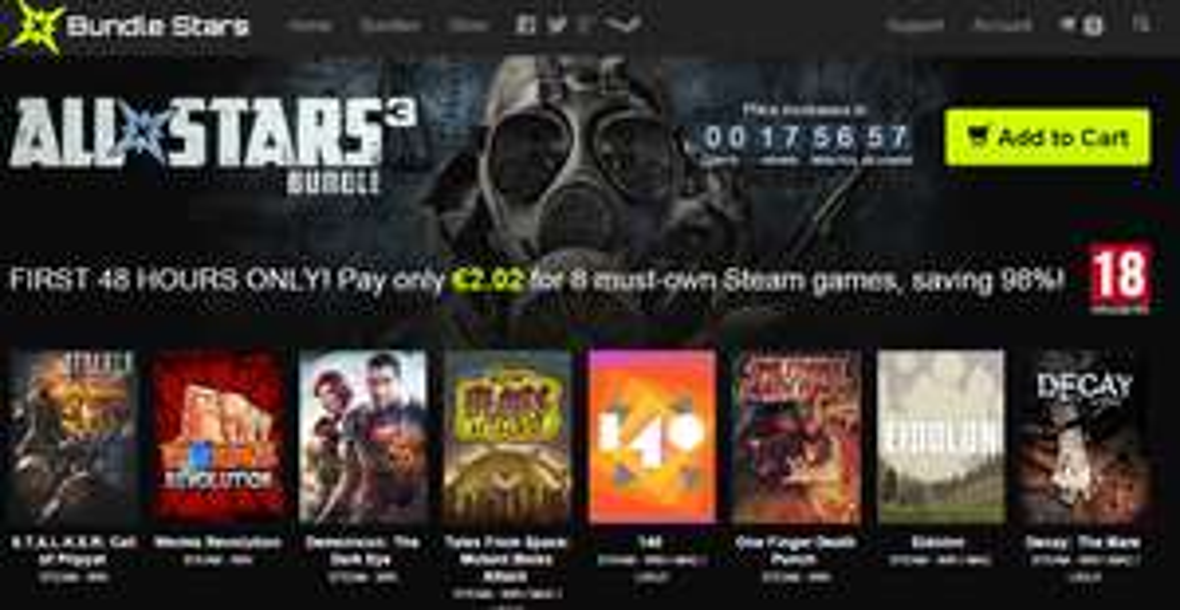 [Steam] STALKER: Call of Pripyat, Worms Revolution i inne (łącznie 8 gier) za ~8,50zł @ Bundle Stars