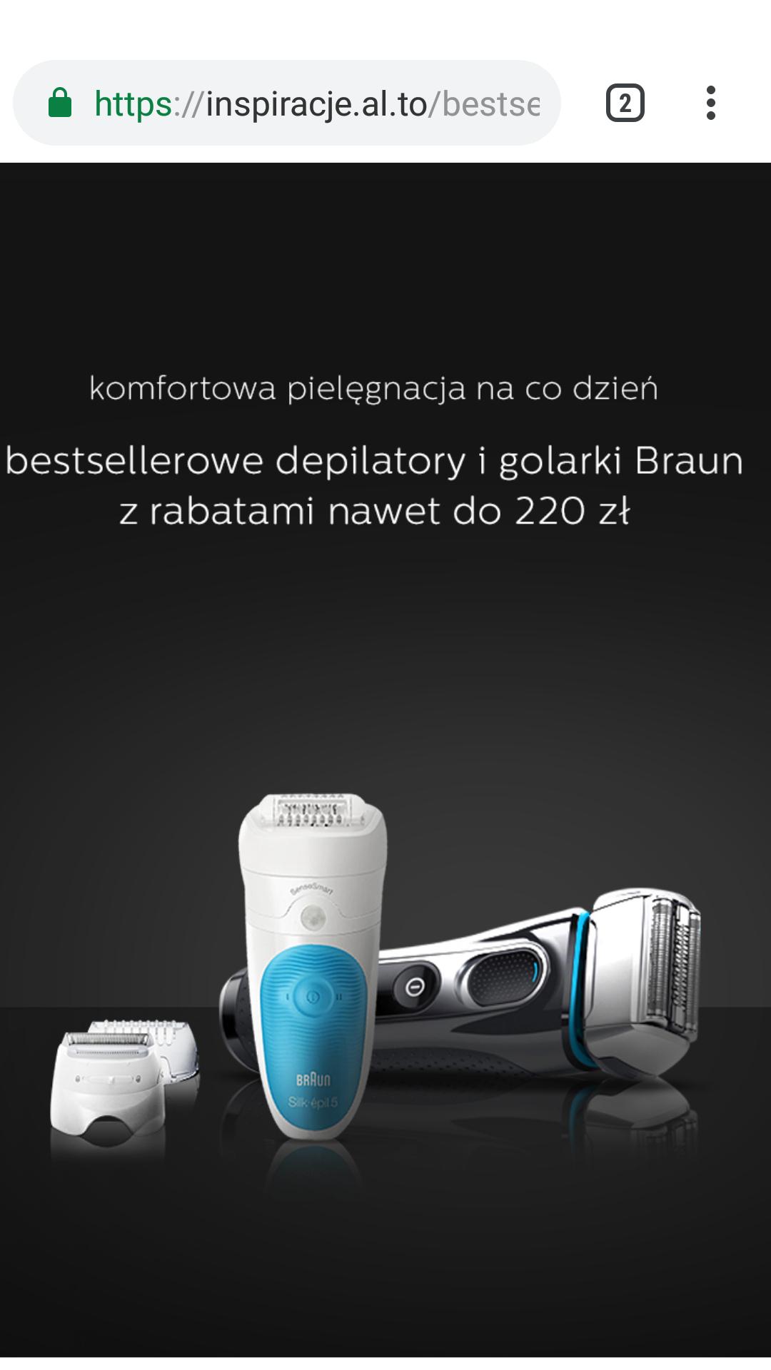Promocja Braun depilatory i golarki