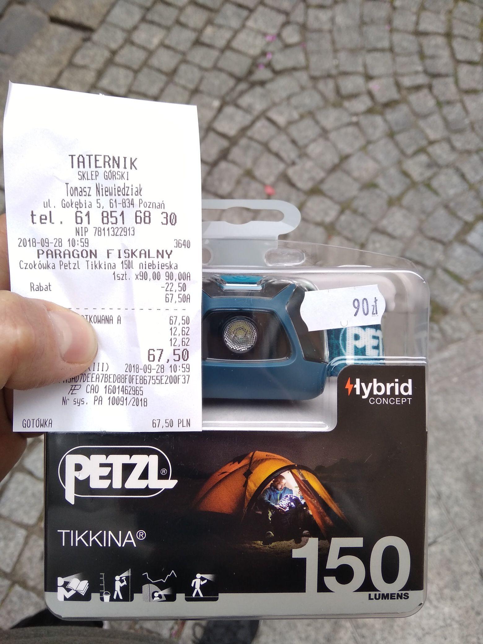 Bardzo fajna czołówka firmy Petzl tikkina