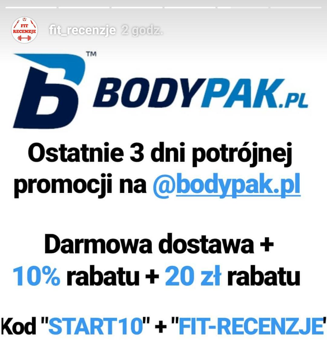 BODYPAK.PL -  ODŻYWKI - 10% RABATU + 20ZŁ RABATU (MWZ 100zł)