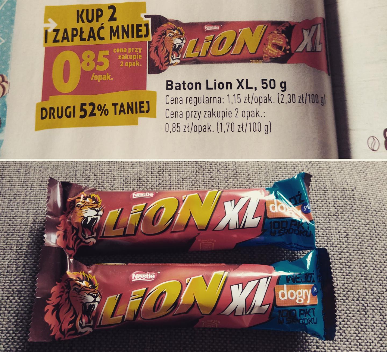 Baton Lion XL 0.85zł z kodem dogry.pl - Biedronka