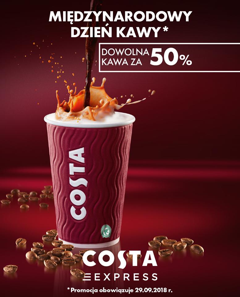 Kawa Costa za pół ceny, stacje Shell