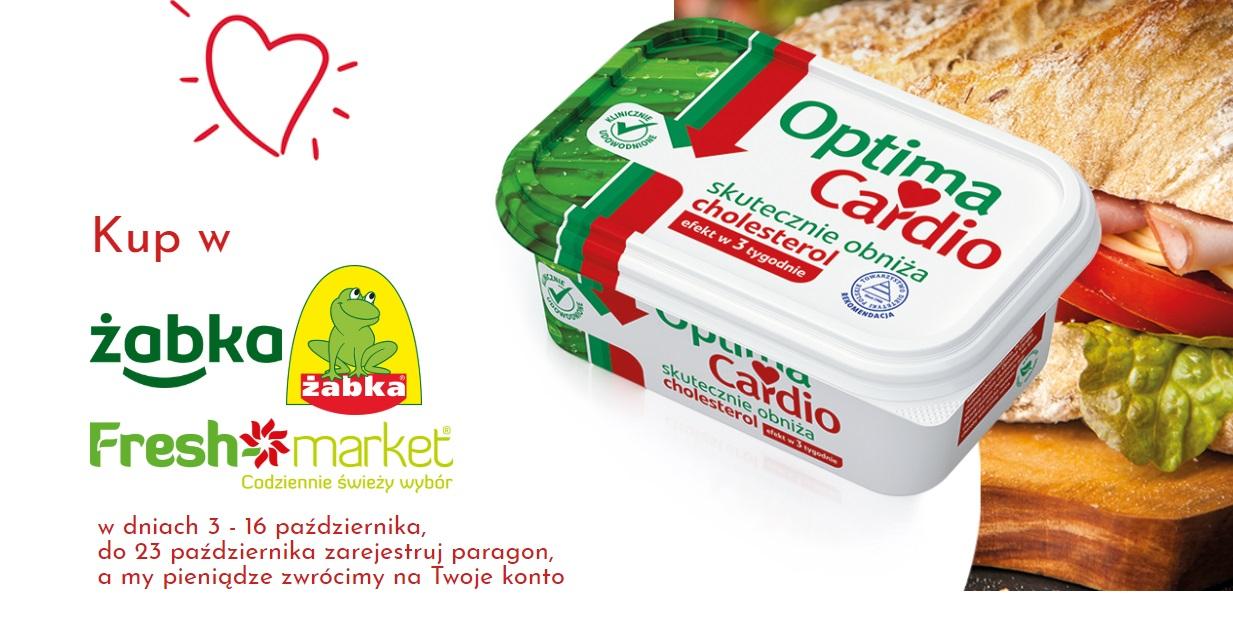 Zwrot za zakup margaryny Optima Cardio w Żabka / Freshmarket