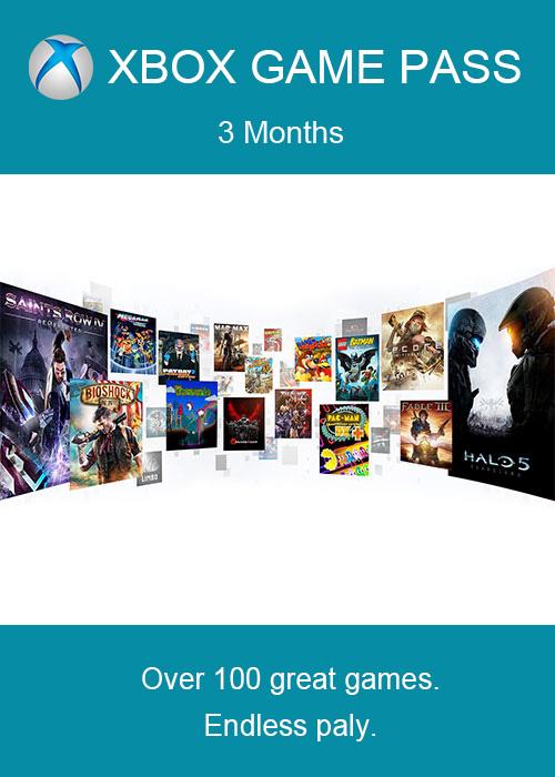 Xbox Game Pass 3 miesiące
