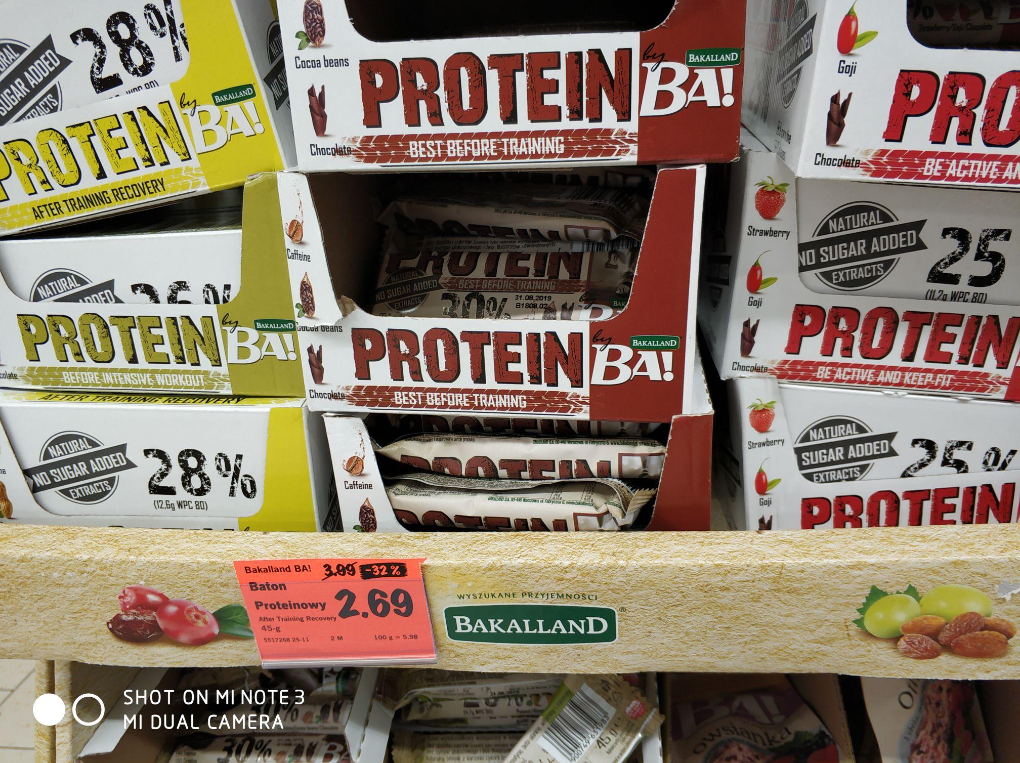 Batony proteinowe Bakalland by Mauricz - LIDL