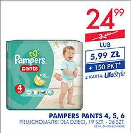 Pampers Pants (4,5,6) za 5,99zł + 150pkt z karty LifeStyle @ Super-Pharm