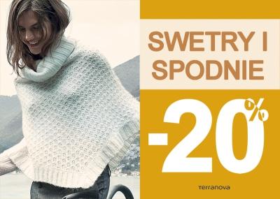20% zniżki na swetry i spodnie @ Terranova