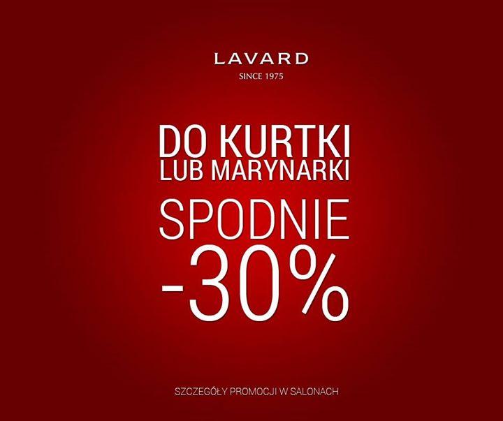 -30% na spodnie przy zakupie kurtki lub marynarki @ Lavard