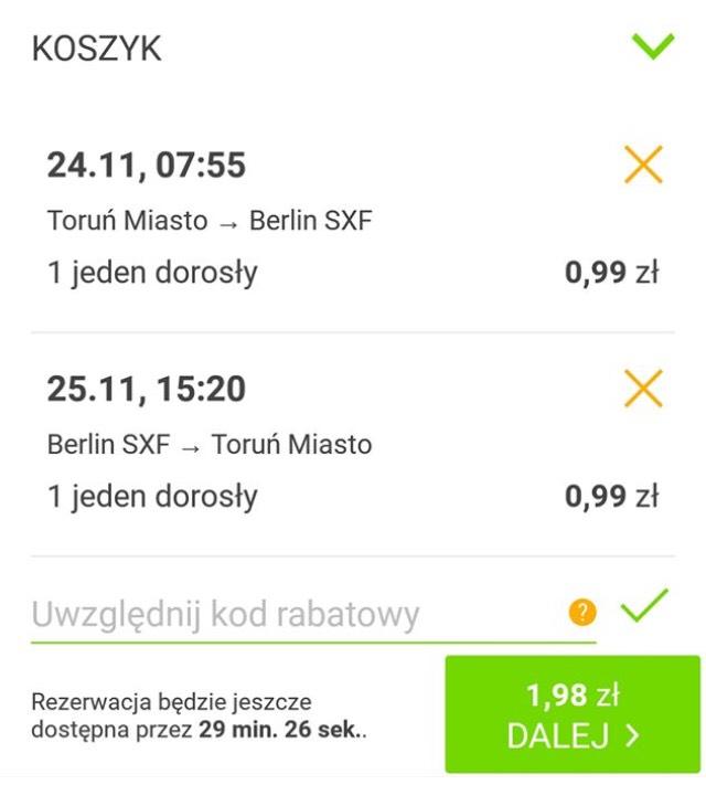 Flixbus Toruń-Berlin za 0,99 zł!