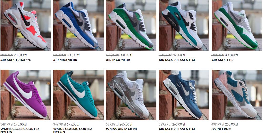 50% rabatu na wybrane modele butów Nike, Adidas, Reebok (np. Nike Air Max męskie od 200zł) @ Run colors