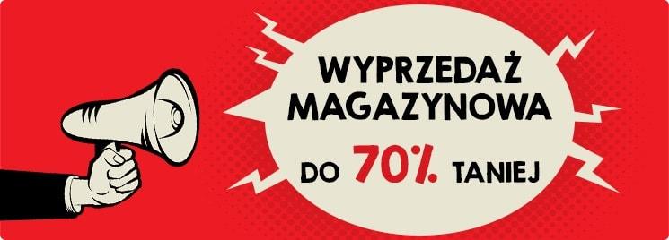 Wyprzedaż magazynowa do 70% taniej