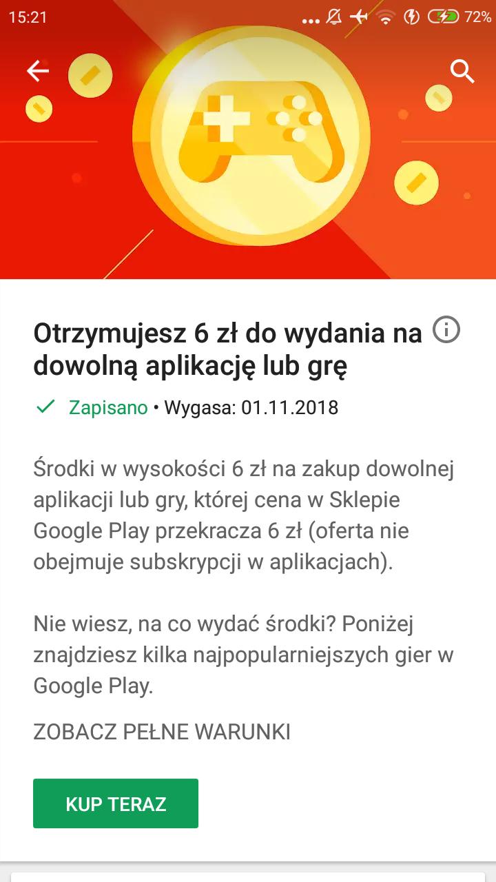 Darmowe 6zł od google play
