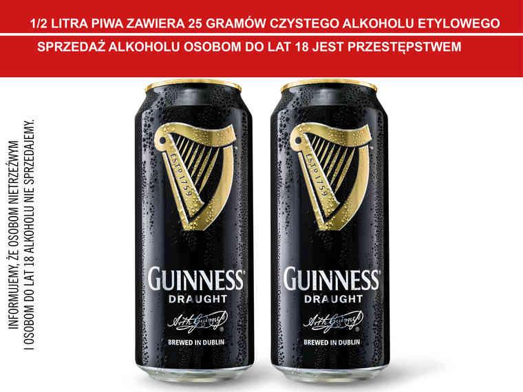 Guinness Draught 440 ml (cena za 1szt. przy zakupie 2szt.)