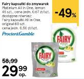 Fairy kapsułki do zmywarki