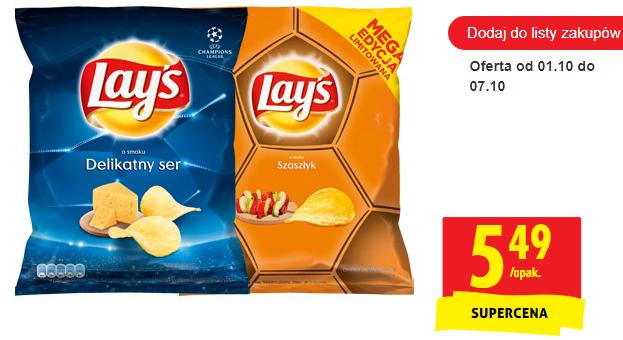 Chipsy Lay's 300g w dobrej cenie - Biedronka