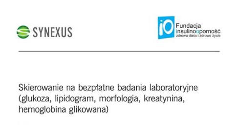 Bezpłatne badania - skierowanie od fundacji insulinooporność (Gdańsk, Gdynia, Katowice, Poznań, Wawa, Wrocław)