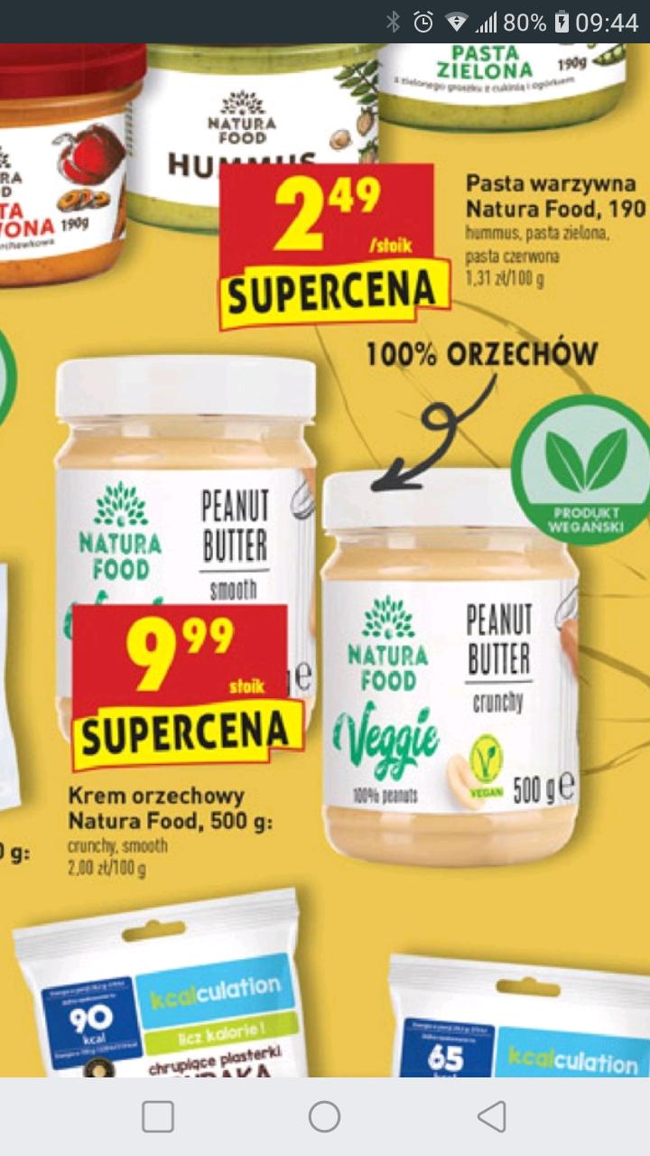 Masło orzechowe Natura Food 500 gramów (100% orzechów) w Biedronce za 9,99