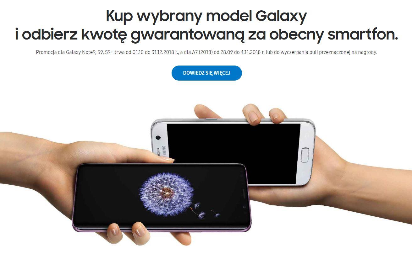 Gwarantowana kwota 250zł za stary telefonu (Galaxy A7, S9, S9+, Note 9) @ Samsung Odkup