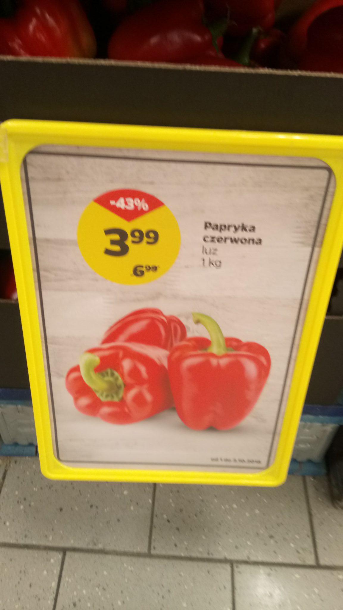 Papryka w Netto 3.99 zł 1 kg.