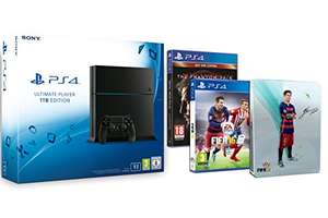 Playstation 4 1TB + Fifa 16 + MGS V za ok. 1750zł @ Amazon.fr