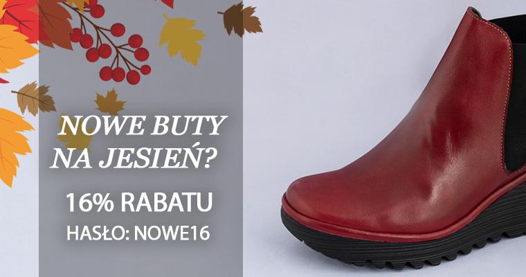 Rabat 16% na nowe buty na Jesień