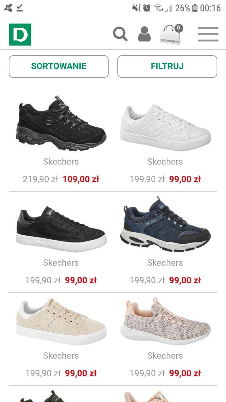 -50% na buty Skechers w Deichmann