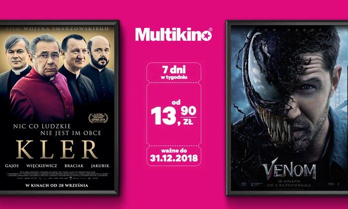 Groupon : Multikino bilety od 13.99 zł cała Polska