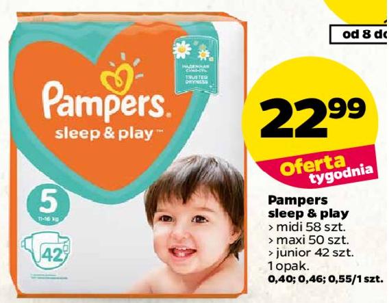 Tanie Pampersy Sleep&Play w Netto
