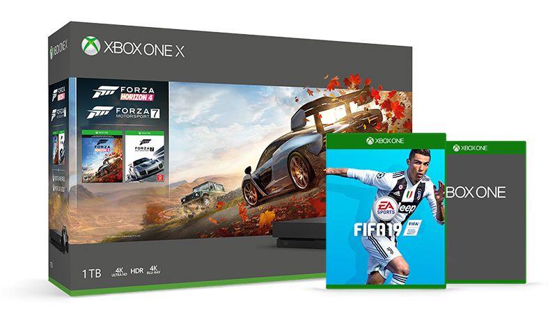 Xbox one X + Forza Horizon 4 + Forza Motorsport + FIFA 19 + Halo 5 DZIAŁA !!
