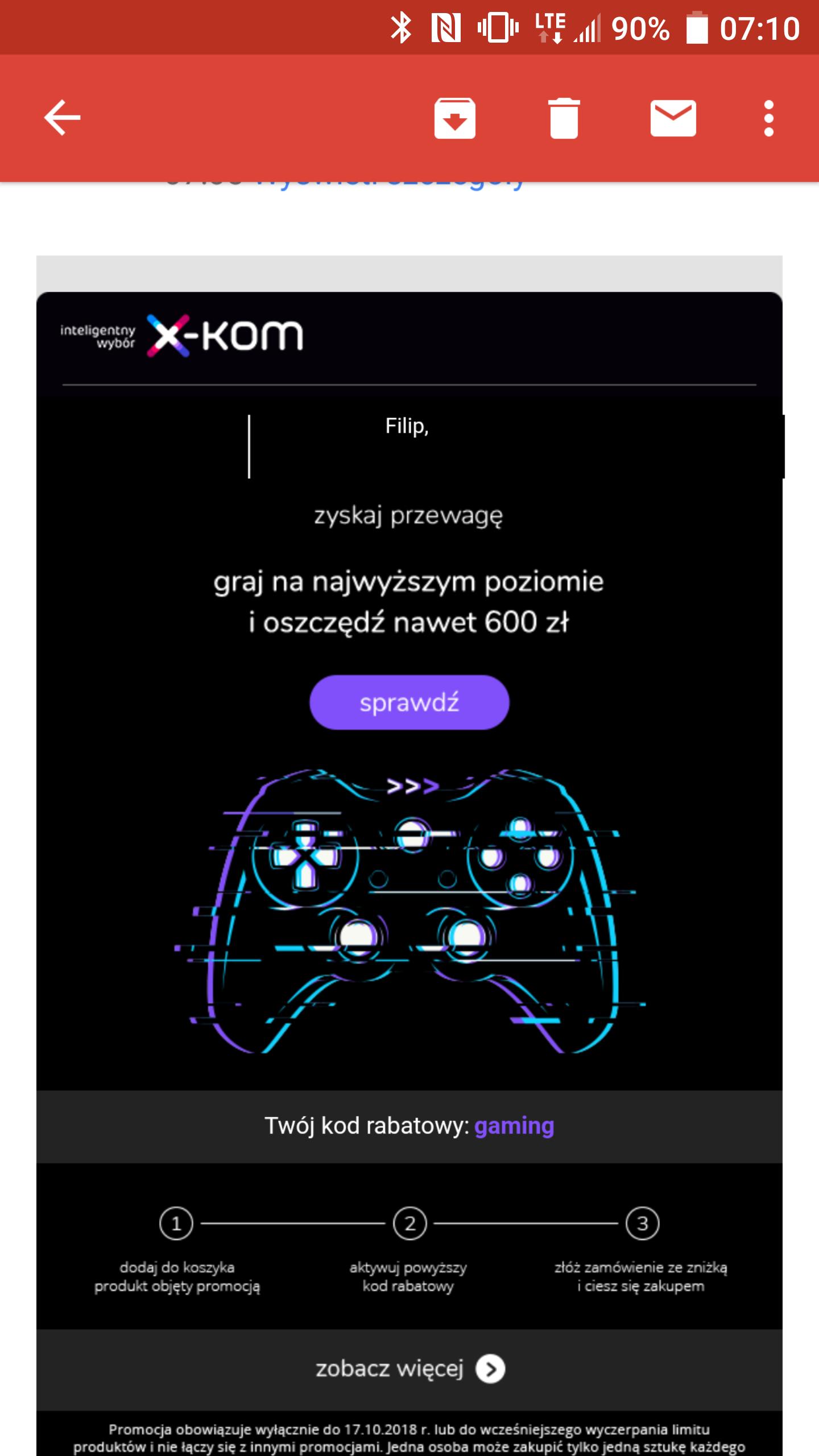 """Promocja X-kom na artykuły """"gaming"""""""