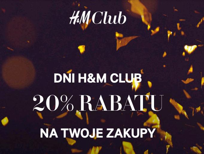 -20% na zakupy dla Klubowiczów @H&M