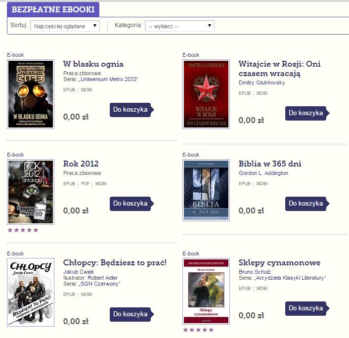 Bezpłatne eBooki: Glukhovsky (uniwersum Metro), Ćwiek i wybrane lektury @ Publio