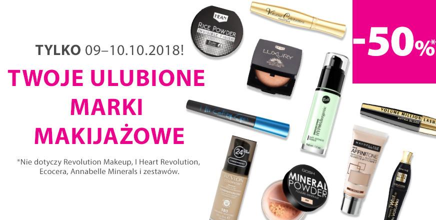 [9-10.10] 50% rabatu na marki makijażowe @ Hebe