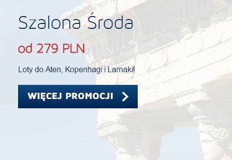 Szalona Środa - loty z Warszawy do Aten (z powrotem) za 279zł! @ Lot