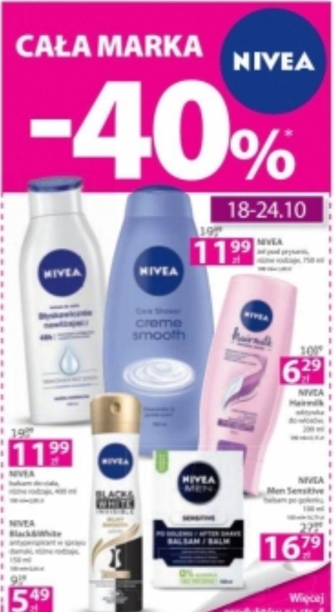 Cała marka NIVEA -40% w Hebe