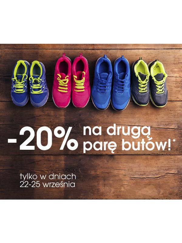 Druga para przecenionych butów z rabatem -20% @ Go Sport