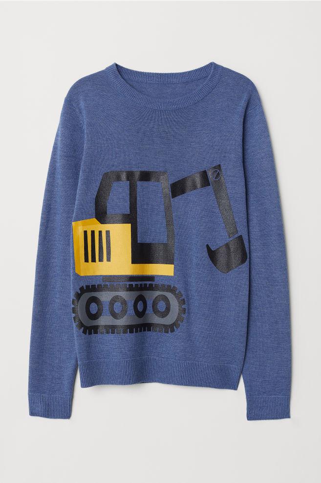 H&M cienki sweter dziecięcy w dobrej cenie, różne wzory
