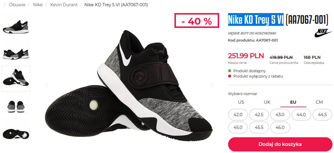 Buty Nike KD Trey 5 VI (AA7067-001) @ SklepKoszykarza.pl