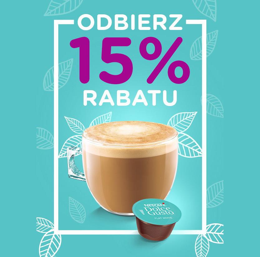 NESCAFE Dolce Gusto - 15% Rabatu na kawy i napoje