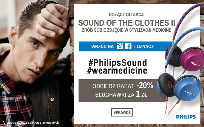 Słuchawki Philips za 1zł przy zakupach @ Medicine