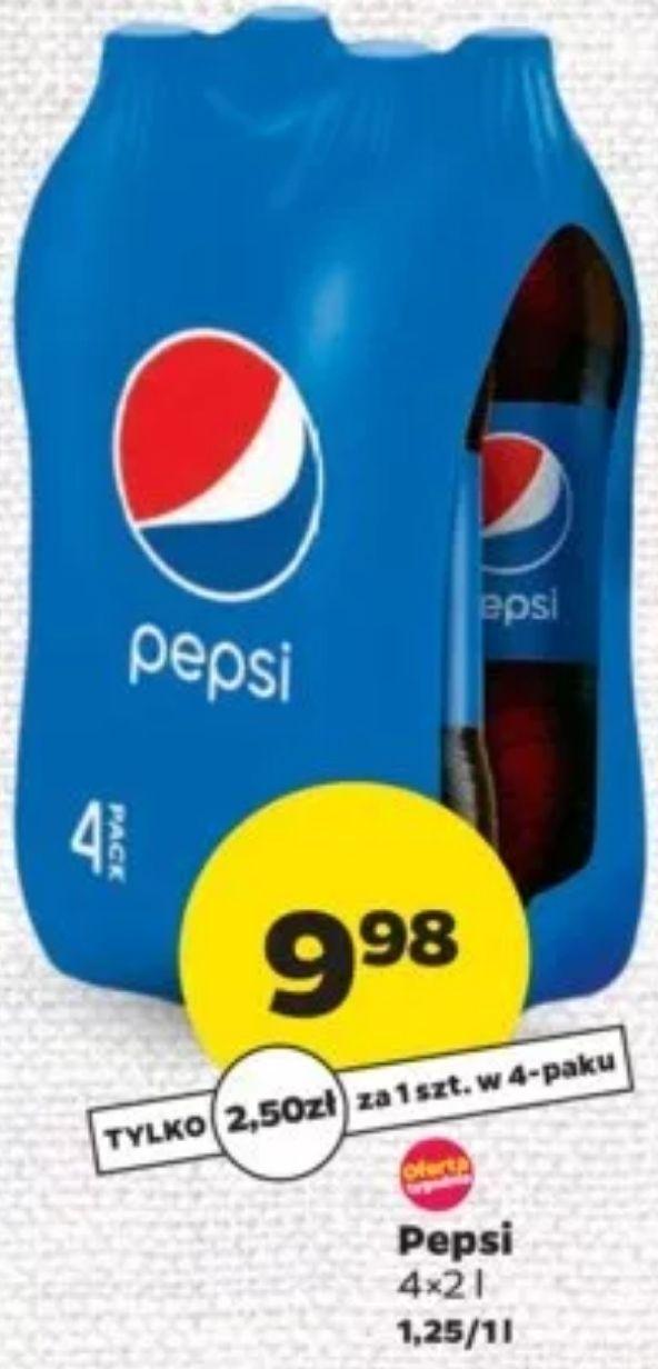 4x 2L Pepsi (1,25 zł/L) @ Netto