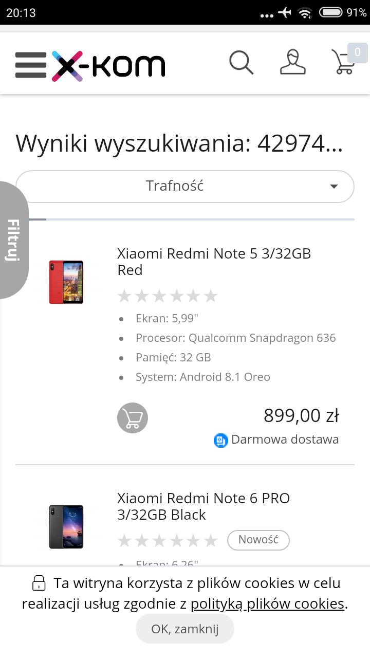 -10% na Xiaomi Redmi w X-Kom