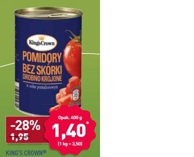 ALDI Pomidory bez skórki drobno krojone