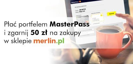 50 zł do wydania na merlin.pl za użycie portfela masterpass w Raiffeisen Polbank