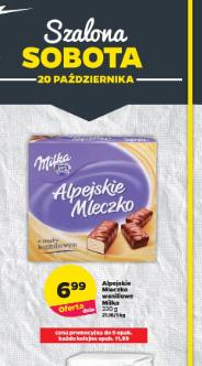 Milka Alpejskie Mleczko waniliowe Netto