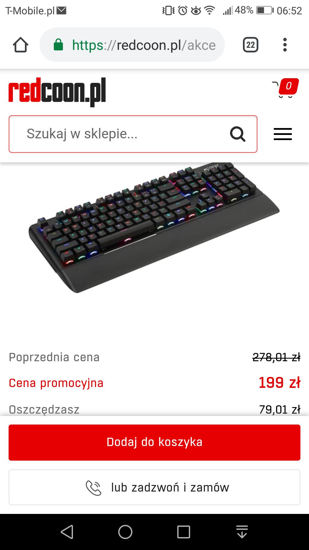 Klawiatura SPC Gear GK550 za 199zł na redcoon.pl