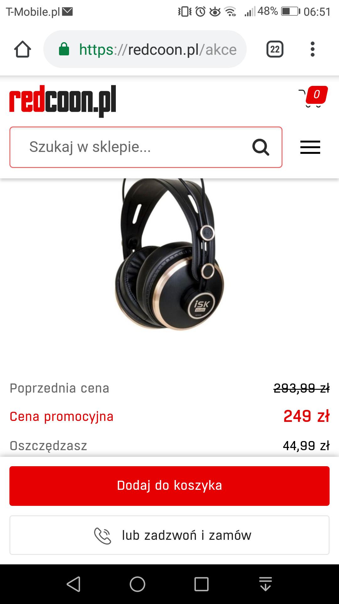 Słuchawki ISK HD9999 za 249zł na redcoon.pl