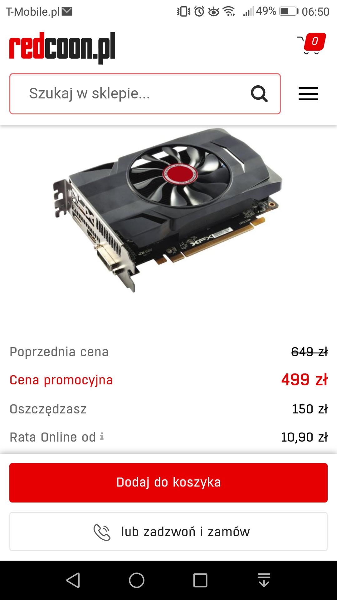 Karta graficzna XFX Radeon RX 550 4GB Core Edition za 499zł
