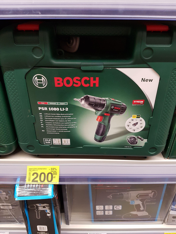 Wkrętarka Bosch PSR 1080 Li-2 @ Carrefour